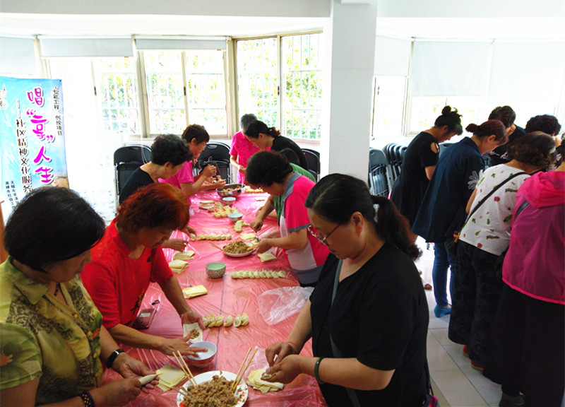 南禅寺街道妙光塔社区开展包馄饨志愿活动